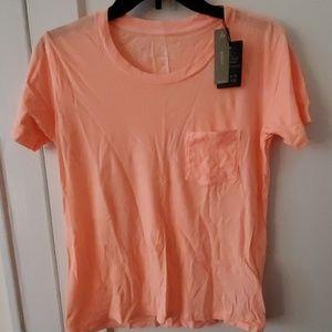 J Crew melon orange garment dyed cotton tee shirt
